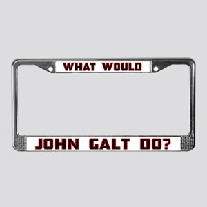 What Would J. Galt Do? License Plate Frame