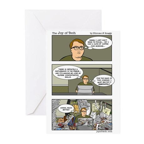 Messy Geek Greeting Cards (Pk of 10)