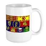 Her Majesty's Royal Standard (DBWF) on a Large Mug