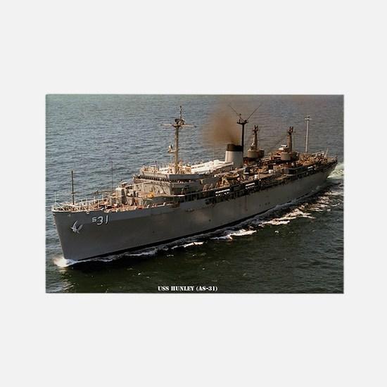 USS HUNLEY Rectangle Magnet