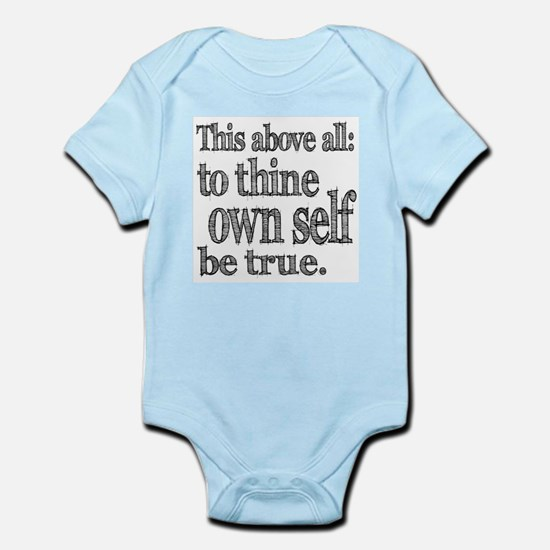 Shakespeare To Thy Own Self Be True Infant Bodysui