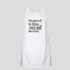 Shakespeare To Thy Own Self Be True Apron