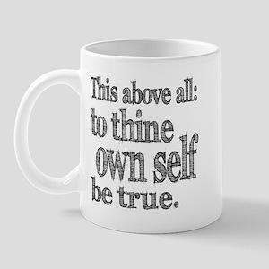 Shakespeare To Thy Own Self Be True Mug