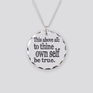 Shakespeare To Thy Own Self Be True Necklace Circl