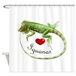 Love Iguanas Shower Curtain