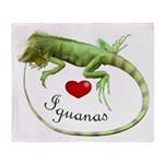 Love Iguanas Throw Blanket