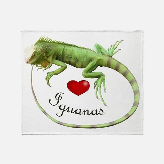 Love Iguanas Throw Blanket