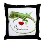 Love Iguanas Throw Pillow
