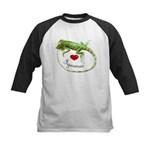 Love Iguanas Kids Baseball Jersey