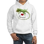 Love Iguanas Hooded Sweatshirt