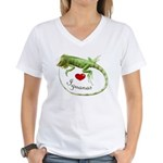 Love Iguanas Women's V-Neck T-Shirt