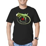 Love Iguanas Men's Fitted T-Shirt (dark)