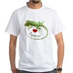 Love Iguanas White T-Shirt