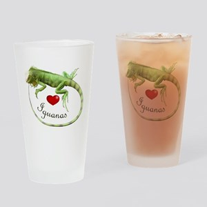 Love Iguanas Drinking Glass