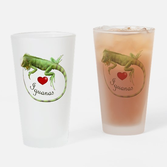 Love Iguanas Drinking Glass