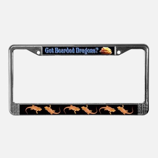 Got Bearded Dragons? License Plate Frame License P