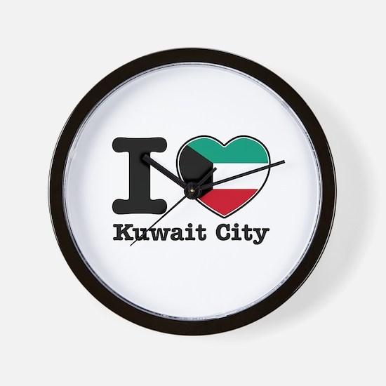 I love Kuwait City Wall Clock