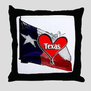 Love Texas II Throw Pillow