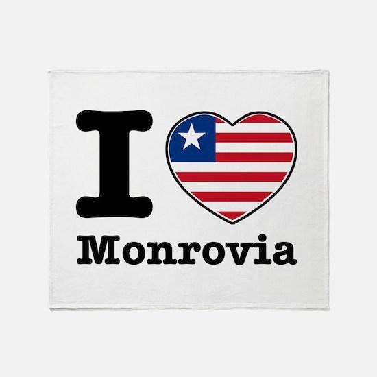 I love Monrovia Throw Blanket
