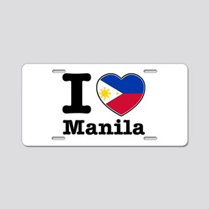 I love Manila Aluminum License Plate