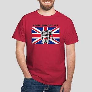 British Football Bulldog Dark T-Shirt