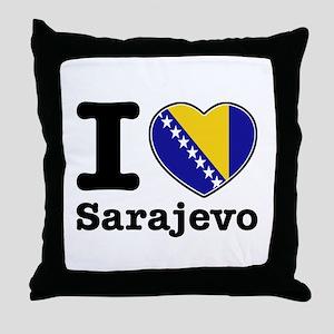I love Sarajevo Throw Pillow
