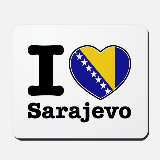 I love Sarajevo Mousepad