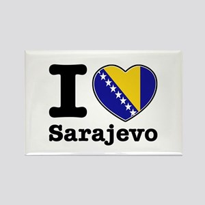 I love Sarajevo Rectangle Magnet