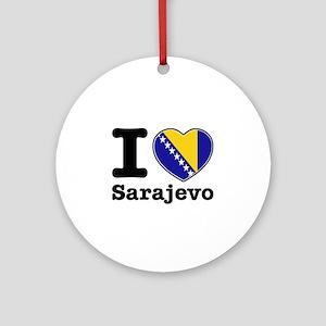 I love Sarajevo Ornament (Round)
