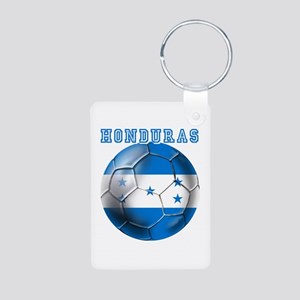 Honduras Soccer Football Aluminum Photo Keychain