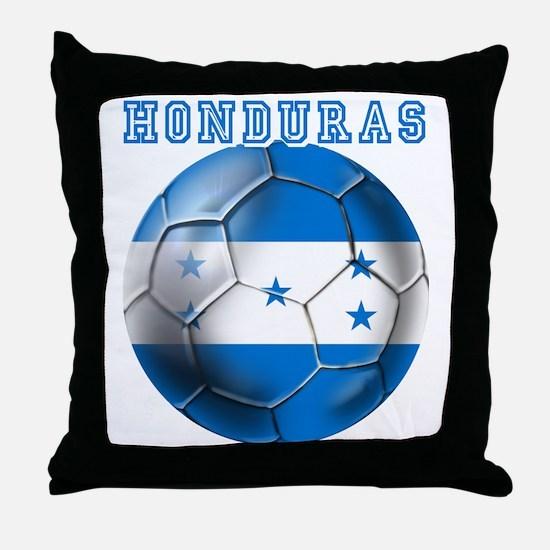 Honduras Soccer Football Throw Pillow