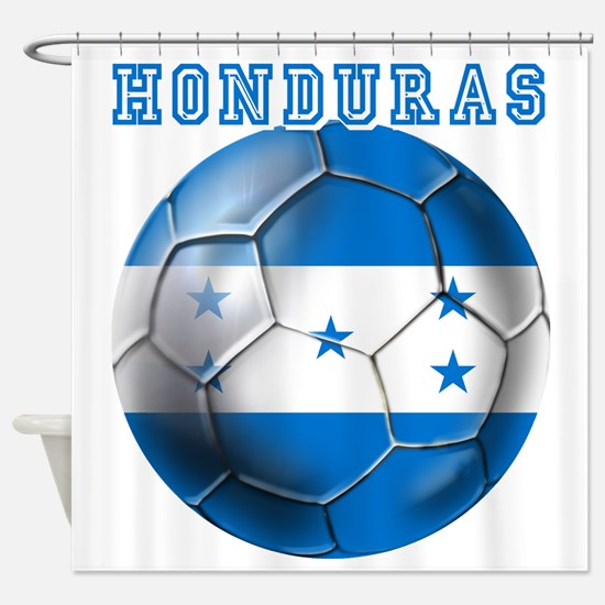 Honduras Soccer Football Shower Curtain