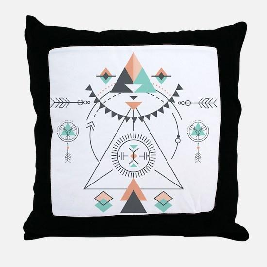 Cute Geometric Throw Pillow