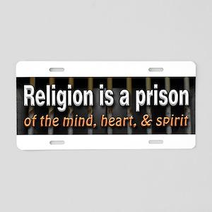 Religion is Prison Aluminum License Plate