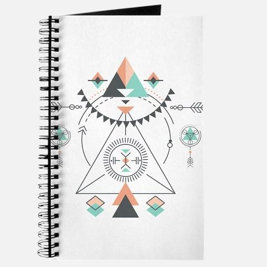 Modern Geometric Tribal Totem Design Journal