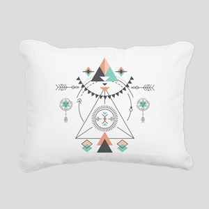 Modern Geometric Tribal Rectangular Canvas Pillow