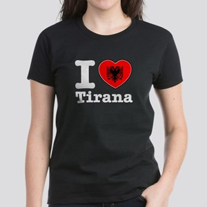 I love Tirana Women's Dark T-Shirt