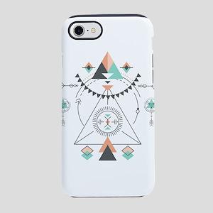 Modern Geometric Tribal Totem iPhone 7 Tough Case