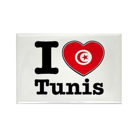 I love Tunis Rectangle Magnet