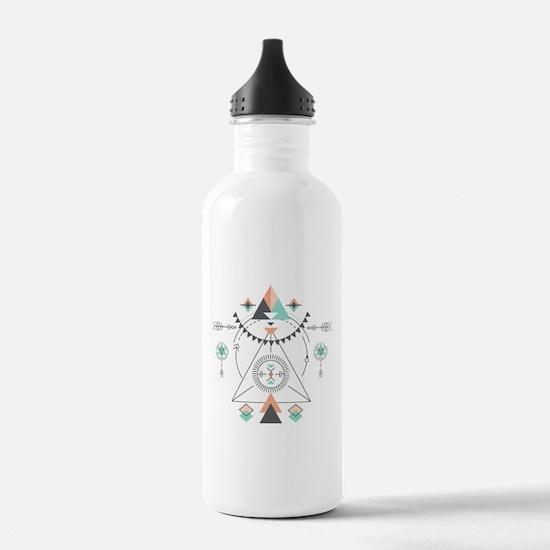 Modern Geometric Triba Water Bottle