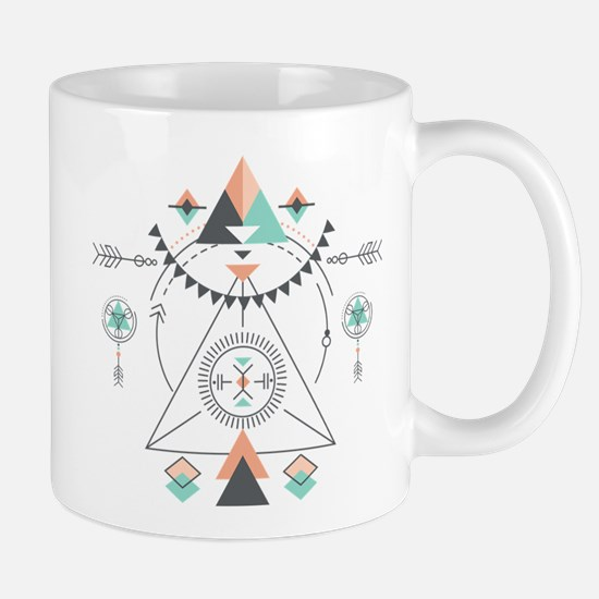 Modern Geometric Tribal Totem Design Mugs