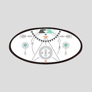 Modern Geometric Tribal Totem Design Patch