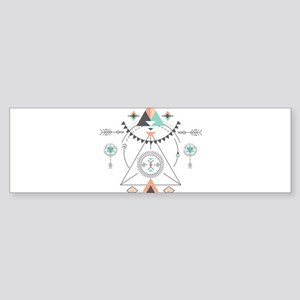 Modern Geometric Tribal Totem Desig Bumper Sticker