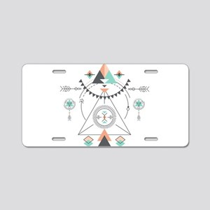 Modern Geometric Tribal Tot Aluminum License Plate