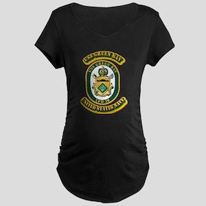 US - NAVY - USS - Green Bay Maternity Dark T-Shirt