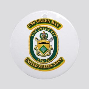 US - NAVY - USS - Green Bay Ornament (Round)
