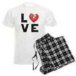 L <3 V E Men's Light Pajamas