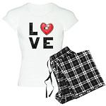 L <3 V E Women's Light Pajamas