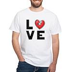 L <3 V E White T-Shirt