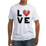 L <3 V E Fitted T-Shirt